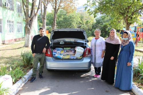 Мусульманки-одесситки посетили Дом ребенка